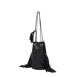Cow Leather Drawstring Bag M for adam et rope