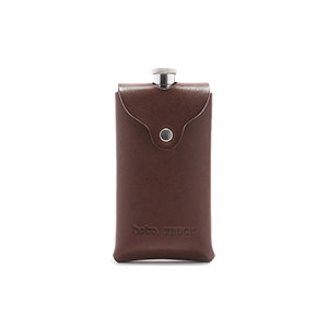 Stainless Steel Flask with Oiled Leather Case